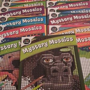 Mystery Mosaics Coloring Book